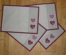 Úžitkový textil - Prestieranie so srdiečkami 3 - 6307854_