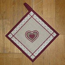 Úžitkový textil - Chňapka so srdiečkom 1 - 6307916_