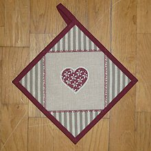 Úžitkový textil - Chňapka so srdiečkom 2 - 6307982_