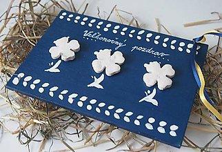 Papiernictvo - Drevená pohľadnička Veľkonočný pozdrav - 6307579_