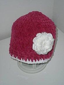 Detské čiapky - Háčkovaná čiapka pre dievčatá - 6309370_