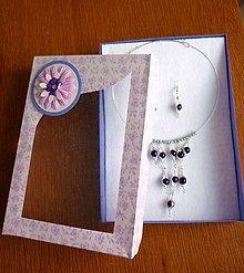 Sady šperkov - Fialová sada - 6309565_