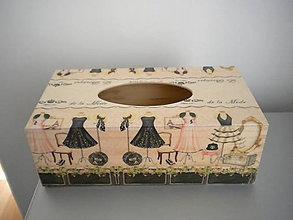 Krabičky - Krabička na vreckovky - 6308797_