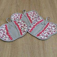 Úžitkový textil - Chňapky - sivo ružové 2 - 6306444_
