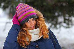 Čiapky, čelenky, klobúky - 4-farebné pruhovaná - 6308866_