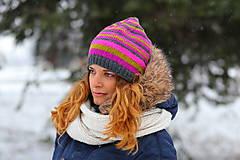 Čiapky, čelenky, klobúky - 4-farebné pruhovaná - 6308875_
