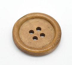 Galantéria - Drevený gombík 25mm - 6306352_
