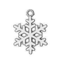 Komponenty - Prívesok snehová vločka maľovaná - 6307804_