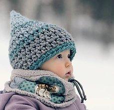 Detské čiapky - Skřítek od březového lesa - 6309650_