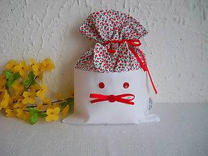 Úžitkový textil - Zajko uško - červené vrecúško - 6312799_