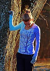 Tričká - Dámske tričko batikované a maľované PASTELOVÝ - 6310410_