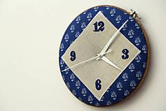 - Hanka, ručne vyšívané nástenné hodiny - 6314352_