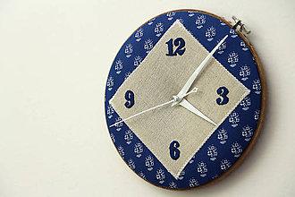 Hodiny - Hanka, ručne vyšívané nástenné hodiny - 6314352_