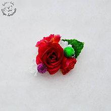 Ozdoby do vlasov - Ružičkové ráno-sponka - 6310915_