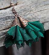 Náušnice - Tanečnice smaragdové elegant - 6313220_