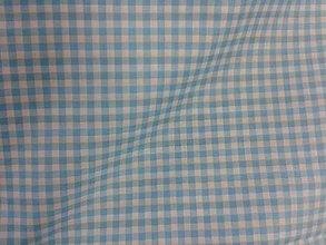 Textil - Tyrkysovo-biela kocka š.140 - 6310605_