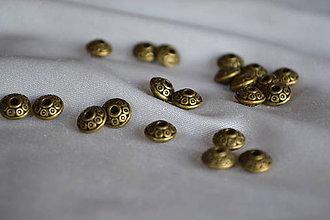 Korálky - Korálky tibetské medené, 6mm, 0.75€/10ks - 6310492_