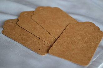 Papier - Kartónové štítky, 3x5cm, 0.60€/10ks - 6310533_