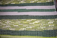 Úžitkový textil - Tkaný zelený koberec - 6312321_