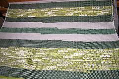 Úžitkový textil - Tkaný zelený koberec - 6312325_
