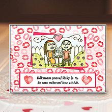 Papiernictvo - Valentínky s citátom - 6312496_
