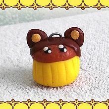 Kľúčenky - Koláčik a lá muffin kľúčenka - ušatý - 6312862_