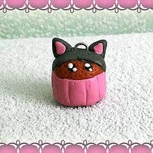 Kľúčenky - Koláčik a lá muffin kľúčenka (mačací) - 6312863_