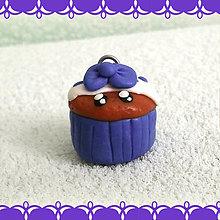 Kľúčenky - Koláčik a lá muffin kľúčenka (s mašličkou) - 6312867_