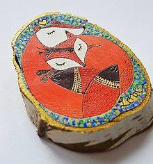 Dekorácie - Dekorácia - Valentín - líšky - 6318602_