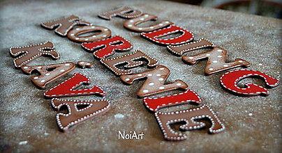 Tabuľky - Drevené písmenká PATINA - 6319714_
