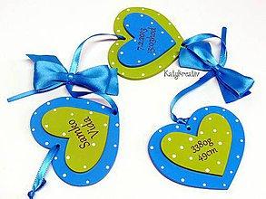 Dekorácie - memošnára modro-zelená - 6315633_