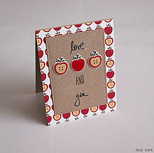 Papiernictvo - Milujem jablká a teba - 6315682_