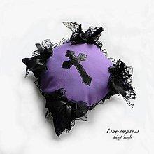 Úžitkový textil - Gothická návliečka + vankúšik - 6314795_