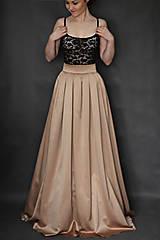 Spoločenská skladaná sukňa rôzne farby