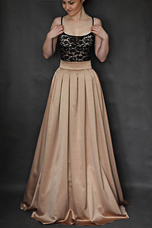 Sukne - Spoločenská skladaná sukňa rôzne farby  - 6315906_