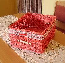 Košíky - Košík jahôdka - 6317524_