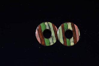 Náušnice - melír etno - 6315657_