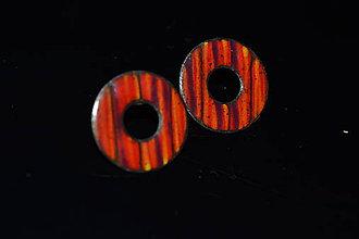 Náušnice - melír červené - 6315659_