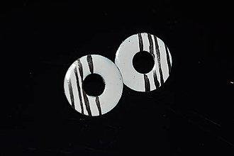 Náušnice - donuty s platinou - 6315689_