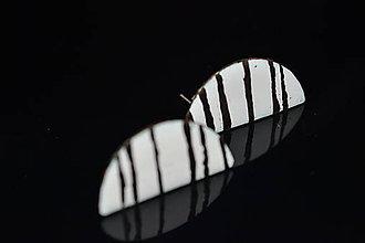 Náušnice - půlky s platinou - 6315693_
