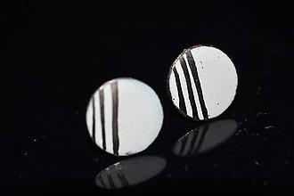 Náušnice - bodky s platinou - 6315701_