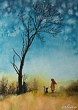 Grafika - Jesenné snenie - tlač A5 - 6317712_