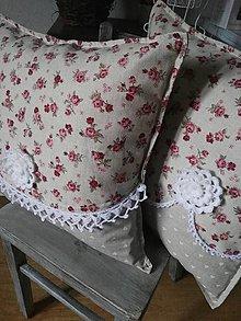 Úžitkový textil - Romantický vankúšik - 6318470_