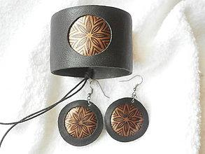 Sady šperkov - Kožený set, medený - 6316900_