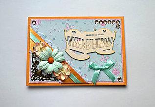 Papiernictvo - Pohľadnica so stojanom Kolíska - 6316855_