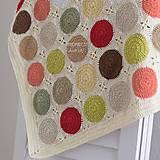 Úžitkový textil - Háčkovaná deka - kruhy ...