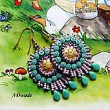Korálkové náušnice Sasanka