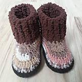Topánočky - Hnedé polomelírové čižmy - 6322887_