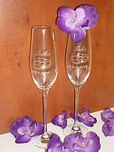 Nádoby - Svadobné poháre - 6324116_