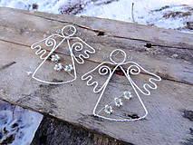 Dekorácie - vianočný anjelik v zimnej košieľke... - 6323105_